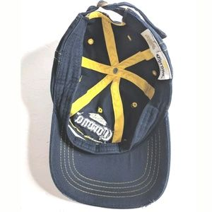44ac7db2 Corona Accessories   Dad Hat Cap Blue Yellow Distressed   Poshmark